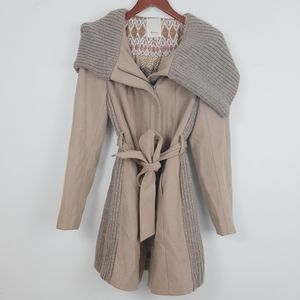Anthropologie Elevenses winter trench coat
